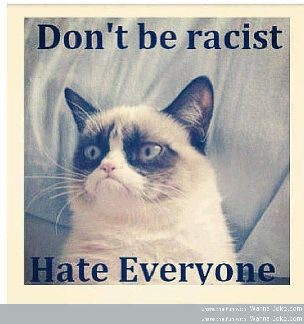My attitude to racism
