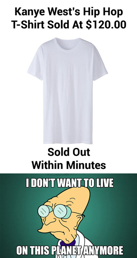 funny-Kanye-West-tshirt-sold-out-Futurama