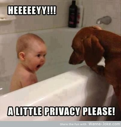 funny-baby-and-dog-taking-bath