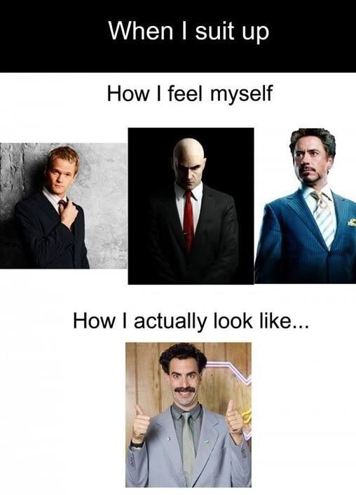 Suit Up Expectations Vs Reality
