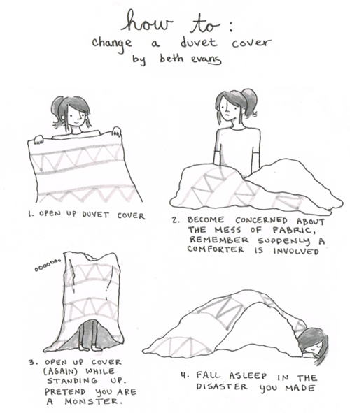How to change a duvet cover