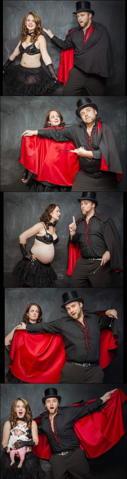 funny-picture-dad-magician-pregnancy-announcement