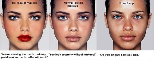 natural makeup quotes picture funny  naturallook sick makeup