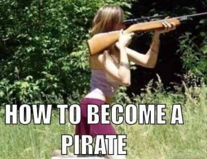 Funny Picture Becoming Pirate Wanna Joke