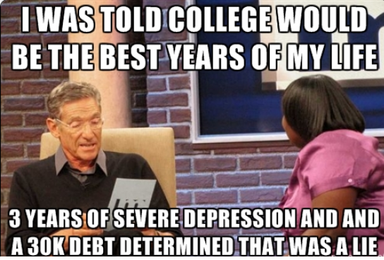 Funny Memes For College : College years