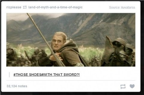 Funny Picture Fashion Outfit Legolas