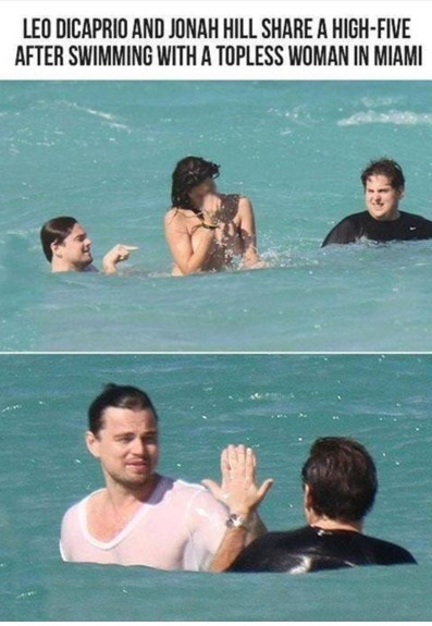 funny-picture-leonardo-dicaprio-jonah-hill-high-five