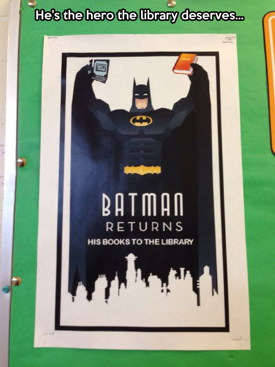 funny-picture-poster-batman-books-library