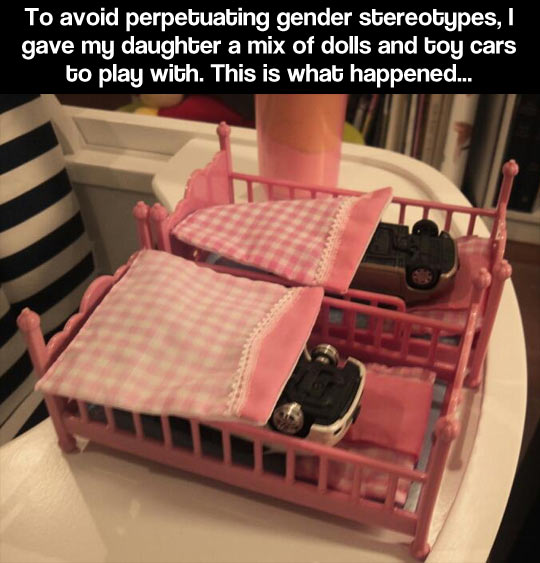 funny-picture-toy-cars-doll-bed-girl