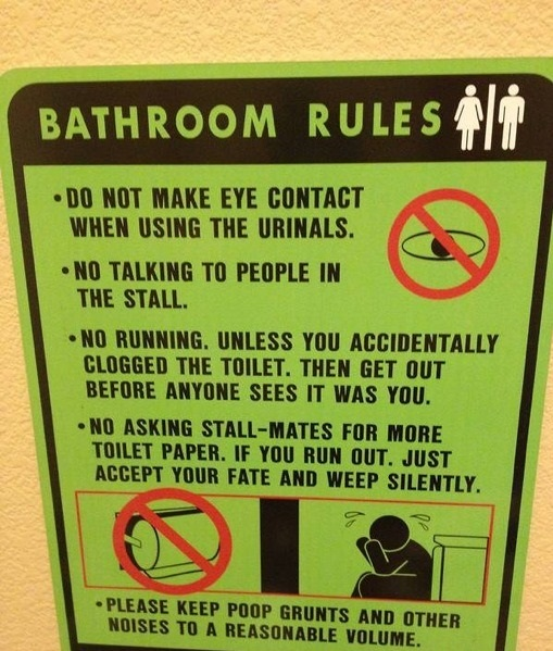 Work Place Bathroom Etiquette Iawaterfowlers