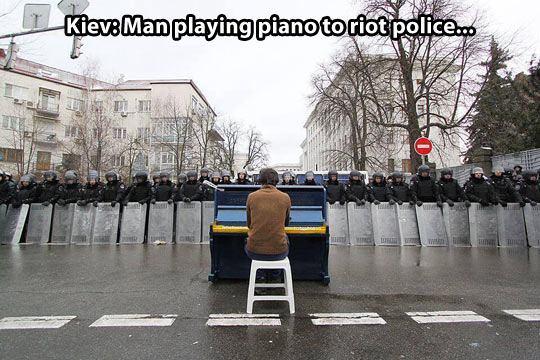 Funny picture man playing piano kiev police wanna joke com