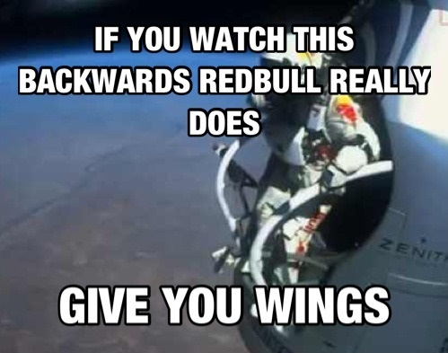 Redbull does give you wings