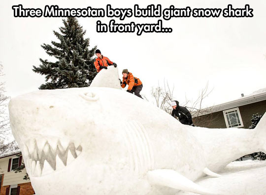 funny-picture-boys-ice-snow-shark-sculpture