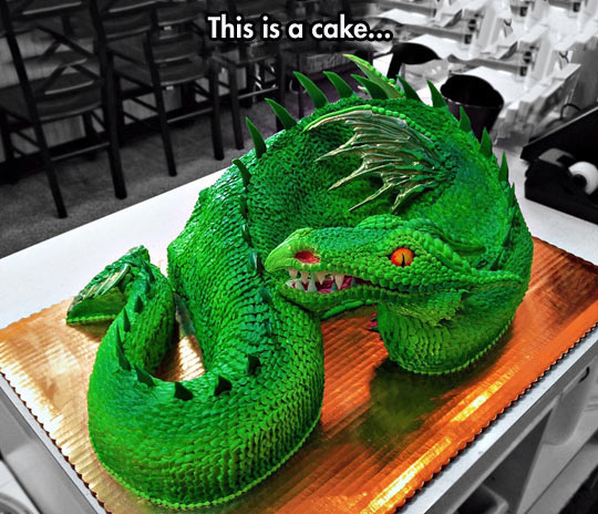 funny-picture-dragon-cake-green-shape-wing