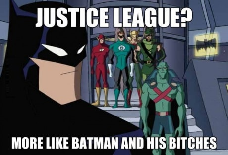 Funny Picture Justice League Batman