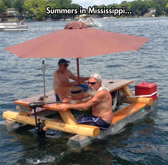 funny-picture-motor-boat-table-umbrella-river