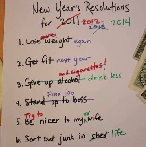 New Year\'s resolutions