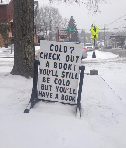 funny-picture-sign-book-library-winter-snow-cold