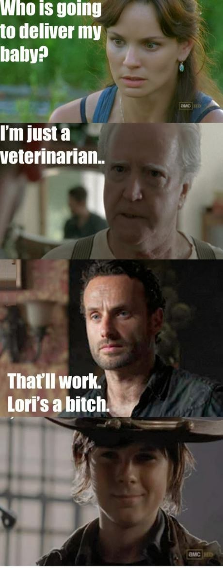 funny-picture-the-walking-dead-lori-carl-baby