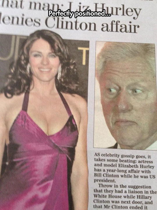funny-picture-Bill-Clinton-newspaper-Elizabeth-Hurley-eyes