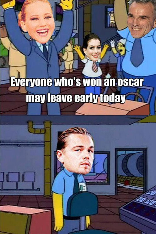 funny-picture-Simpsons-Oscars-work-early-Leo-DiCaprio