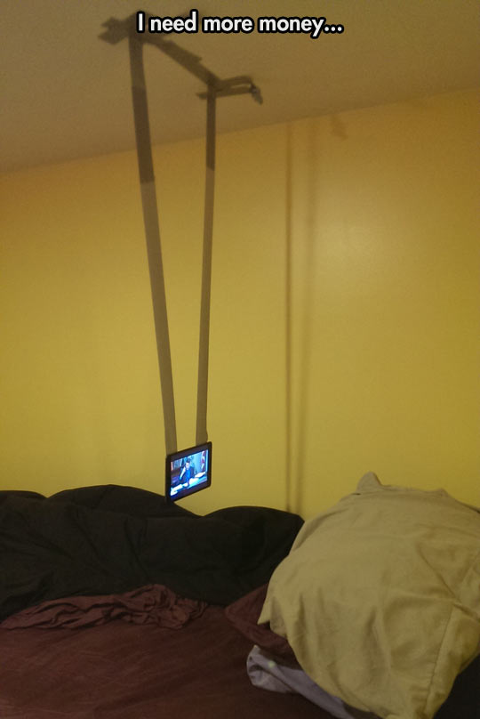 funny-picture-phone-tape-roof-bed
