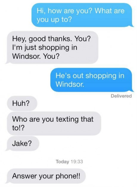 how to respond to a joke text