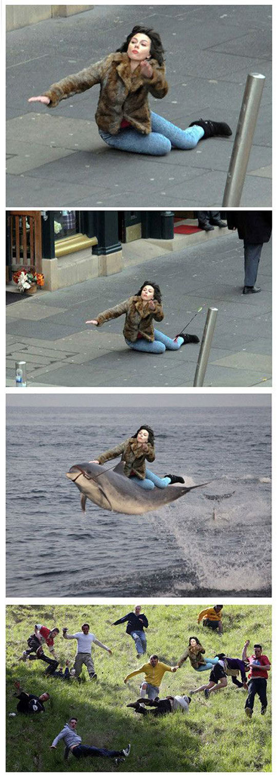 funny-picture-woman-fall-street-Photoshop