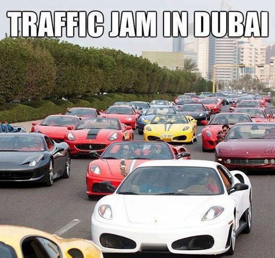funny-picture-Dubai-street-expensive-cars