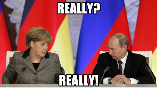 Funny picture merkel putin staring conference