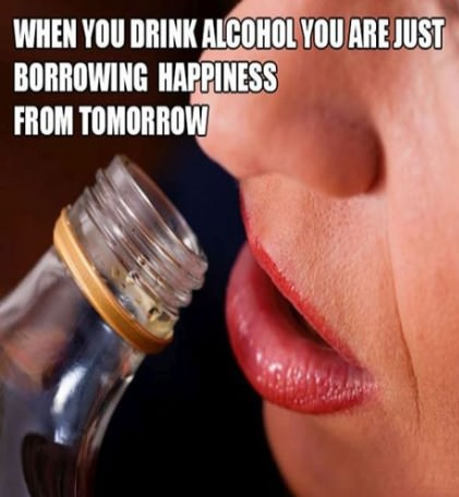 When you drink alcohol…