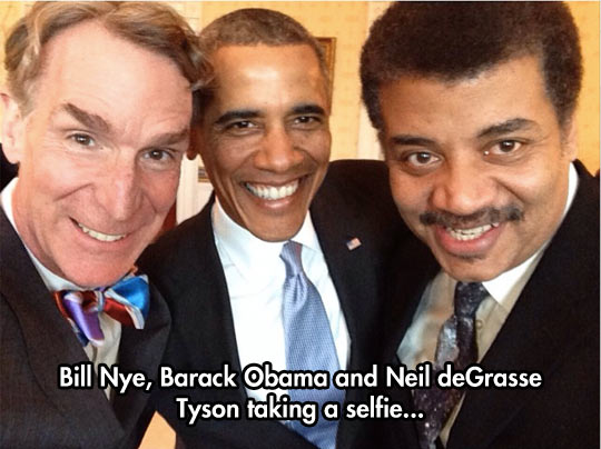 funny-picture-cool-selfie-Bill-Nye-Obama