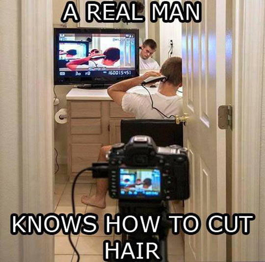 funny-picture-guy-cutting-hair-mirrors-man