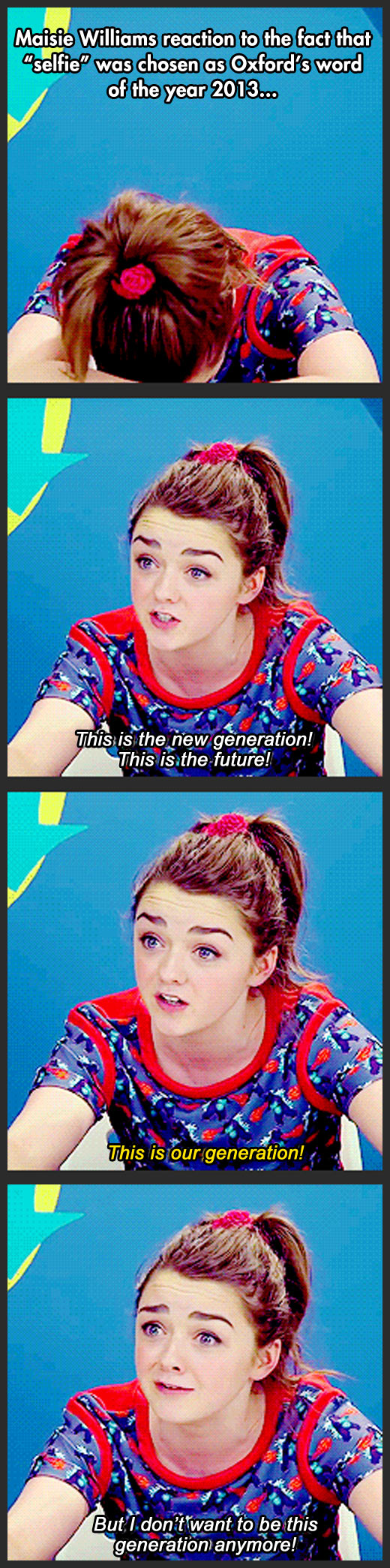 funny-picture-Maisie-Williams-reaction-selfie-word-2013