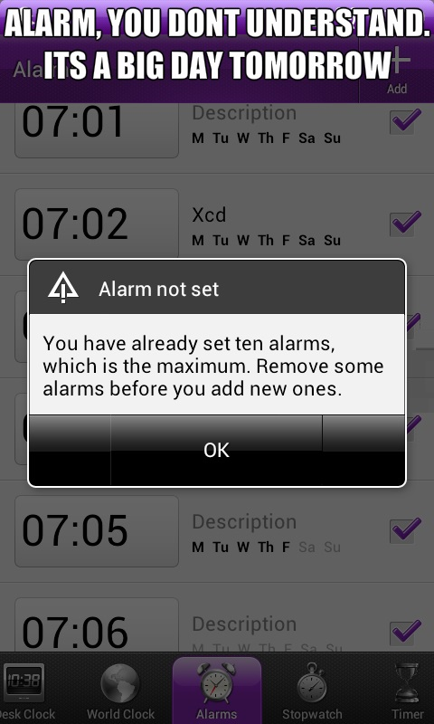 You Don't Know Me, Alarm