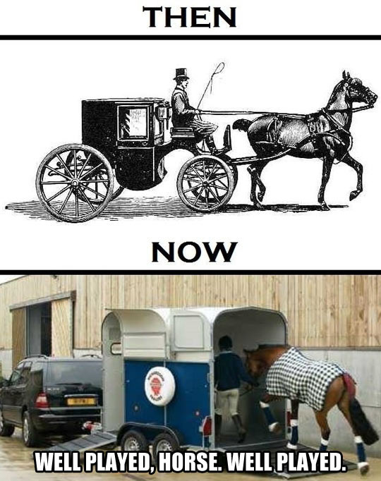 funny-picture-horse-ride-car-then-now