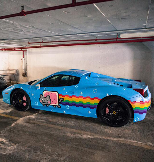 wanna-joke-Ferrari-Nyan-Cat-painting