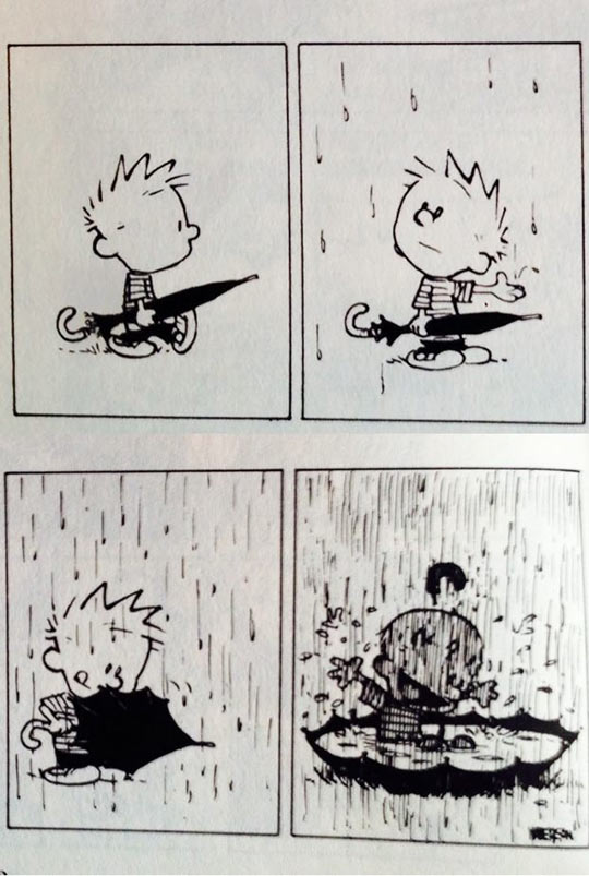 funny-picture-Calvin-rain-umbrella-playing-comic