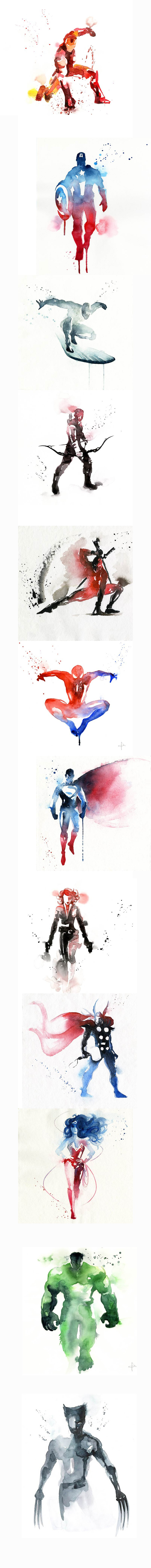 funny picture art superheroes