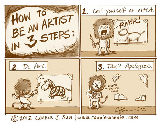 funny-picture-artist-lion-drawing-comic
