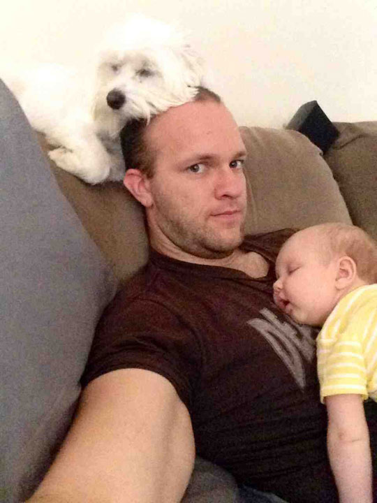 funny-picture-dad-parent-baby-dog-sleeping-couch