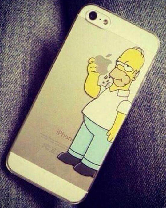 funny-picture-iPhone-case-Homer-Simpsons-eating