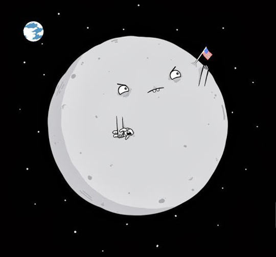 funny-picture-moon-annoyed-astronaut-flag