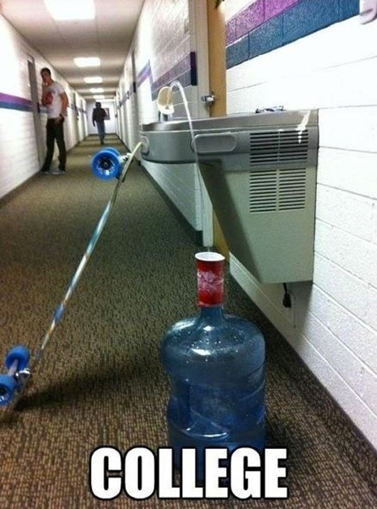 funny-picture-water-fountain-skater-college-hallway