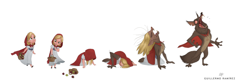 funny-picture-werewolf-Little-Red-Riding-Hood-fairy-tale