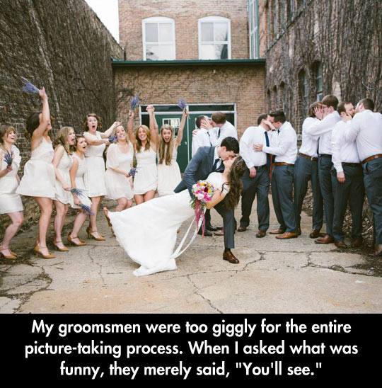 funny-picture-groomsmen-kiss-bride-wedding