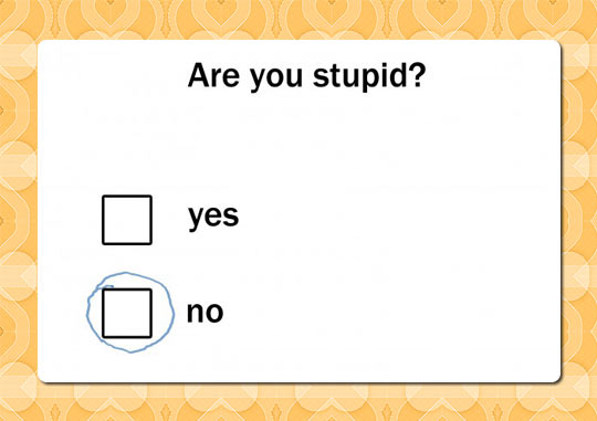 Listing Funny Picture Quiz Question Mark Box