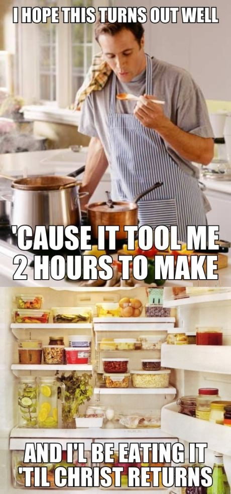 When I decide to cook…