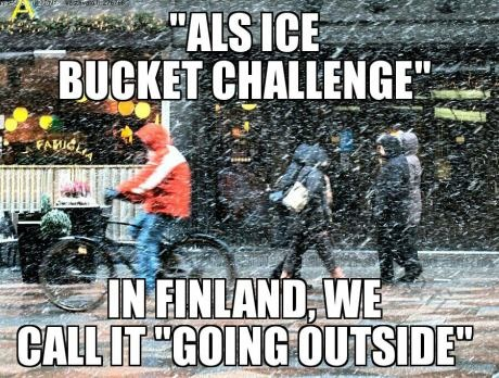 Finnish Ice Bucket Challenge