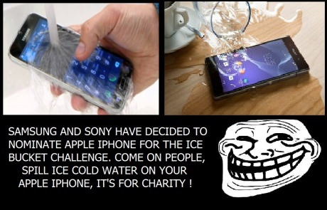 Samsung and Sony Ice Bucket Challenge: Your Move, Apple